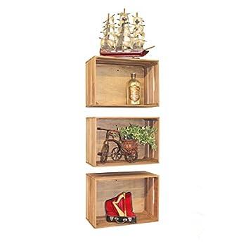Vintiquewise(TM) Antique Style Wooden Crates, Set of 3