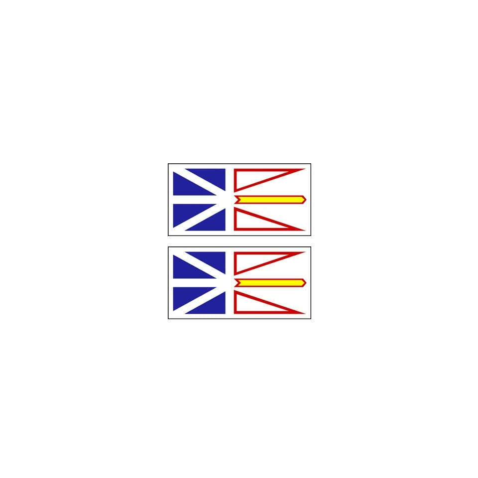 2 Newfoundland and Labrador Canada Flag Stickers Decal Bumper Window Laptop Phone Auto Boat Wall