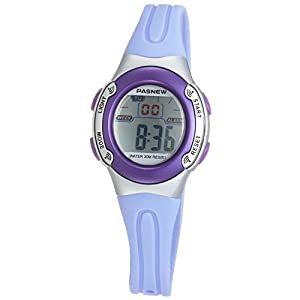 Casual Waterproof Children Girls Digital Sport Watches with Alarm, Chronograph, Date (Purple)