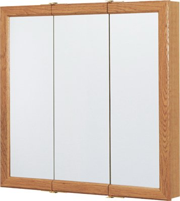 Rsi Home Products CBT30-11-B Aluminum Oak Triview Medicine Cabinet, 30""
