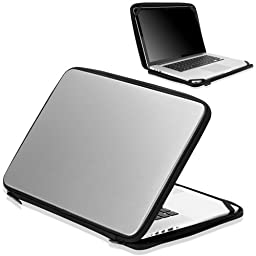 CaseCrown Galvanized Book Cover Case (Silver) for the 15 Inch MacBook Pro with Retina Display