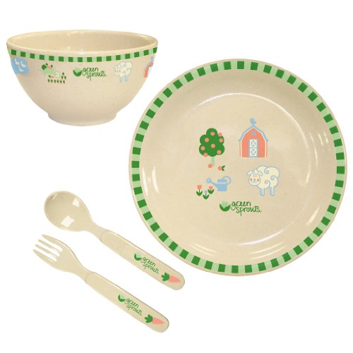 Green Sprouts Plant Fiber Dinner Ware Set