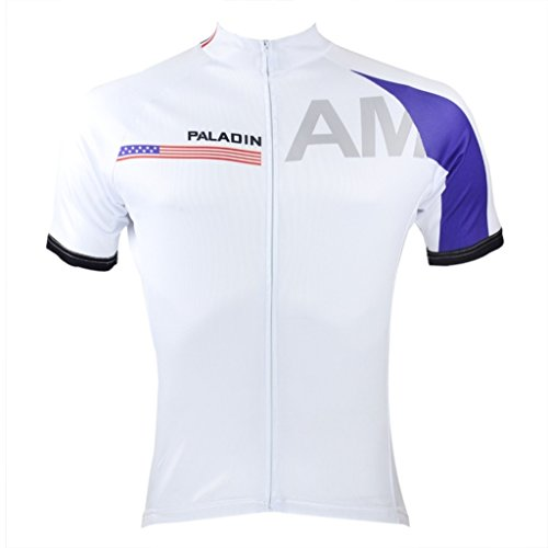 Paladinsport Men's United States Polyester Quick Dry Short Sleeve Cycling Jerseys Size M (Colombia Retro Cycling compare prices)