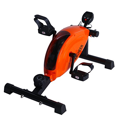 Ancheer Mini Exercise Bike Pedal Arm Leg Exerciser Cycle Peddler Trainer Bicycle LCD Display