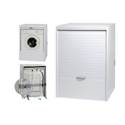 mobile bagno coprilavatrice : Mobile coprilavatrice bagno in resina a serranda scorrevole bianco ...