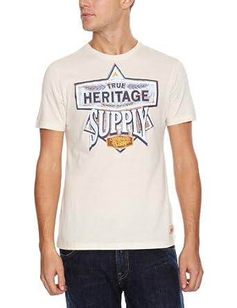 Esprit - Edc 111Cc2K016 - T-Shirt - Homme - Blanc - FR: Medium (Taille fabricant: Medium)