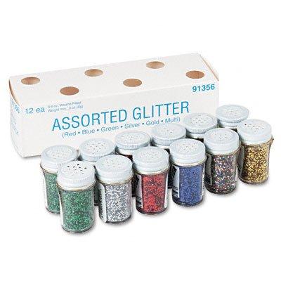 Pacon 497695 Spectra Glitter 6-Color Assortment .75 oz. Shaker