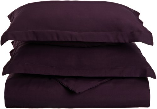 Impressions 1500 Series Wrinkle Resistant King/California King Duvet Cover 3-Pc Set Solid, Plum front-875268