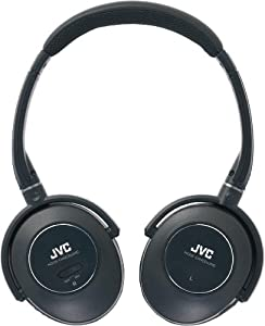 JVC HA-NC260 Noise Cancellation Stereo Headphones with 40mm Neodymium Drivers, 3.5mm Plug