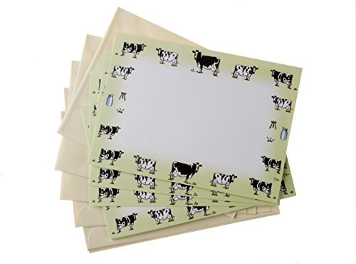 10-korrespondenz-karten-mit-umschlage-milchprodukte-kuh-themed-cards-von-bryn-parry-ideal-fur-briefe