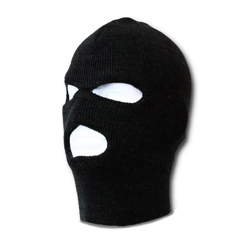 3 HOLE KIDS SKI MASK WINTER HAT BLACK KNITTED SAS BALACLAVA