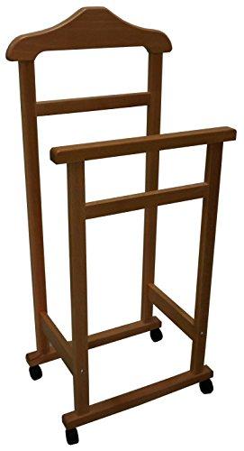 Appendiabiti indossatore porta abiti in legno noce marrone - Appendiabiti da camera da letto ...