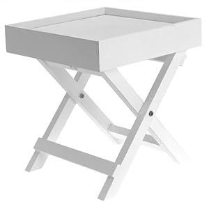 petite table de chevet en bois blanc cuisine maison. Black Bedroom Furniture Sets. Home Design Ideas