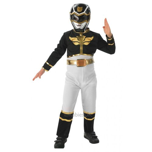 Fancy Dress - Power Rangers Megaforce Black Costume - KIDS - SMALL