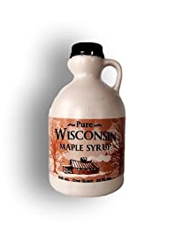 Little Man Syrup 100% Pure Wisconsin Maple Syrup Grade A Medium Amber Quart (32oz)