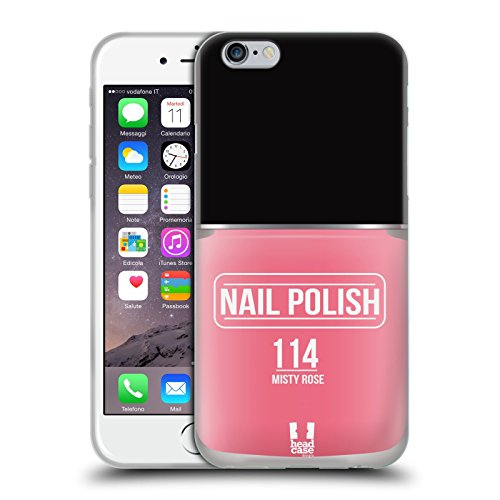 Head Case Designs Misty Rose Nail Polish Soft Gel Back Case Cover for Apple iPhone 6 4.7 (Nail Polish Iphone 6 Case compare prices)