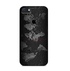 Black Map Design Iphone Cover