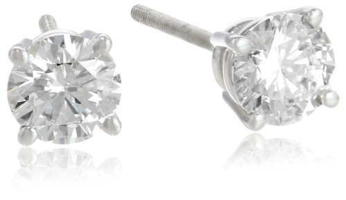 IGI Certified Platinum 4-Prong Diamond Stud Earrings
