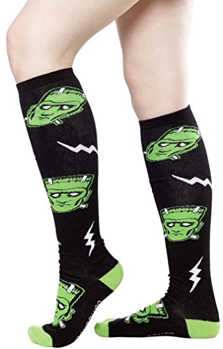 "Frankenstein 17"" Knee High Socks Classic Movie Monster"