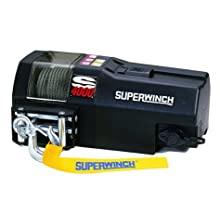 Superwinch 1440200 S4000, 12 VDC winch, 4,000lb/1814 kg single line pull with roller fairlead & 30' remote