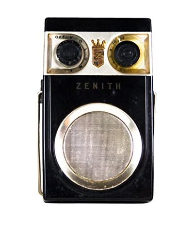 1950s Vintage Zenith Royal 500 Transistor Radio, Black/Gold