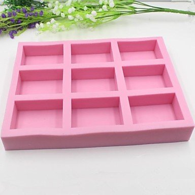 Nine Holes Square Shaped Fondant Cake Chocolate Silicone Mold Cake Decoration ToolsL24cm*W18cm*H3cm