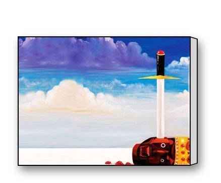 ArtShop Gallery Wrapped Kanye West My Beautiful Dark Twisted Album Artwork Custom Modern Art Painting Wall Decor Canvas Print (Kanye West Painting compare prices)