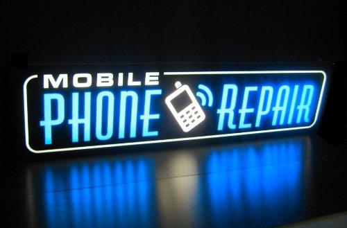 Mobile Phone Repair Light Box Sign - Led/Neon Alternative B