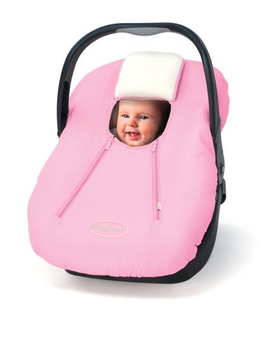 Cozy Car Seat Microfiber And Fleece Cover- Pink front-90879