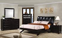 Hot Sale Phoenix Queen Bedroom Set 4 Piece Cappuccino Maple Hardwood.