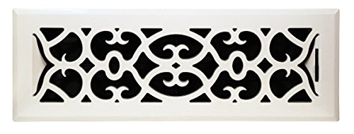 Accord APFRWHV212 Plastic Floor Register with Victorian Design, 2-Inch x 12-Inch(Duct Opening Measurements), White Finish (12x2 Register Box compare prices)