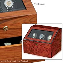Orbita Siena 3 Executive Programmable Watch Winder, Teak