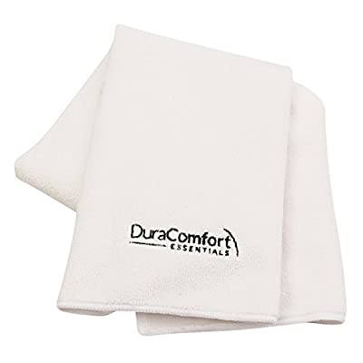 DuraComfort Microfiber Hair Towel - Drastically Reduce Hair Drying Time OR 100% RISK FREE Money Back Guarantee - Super Absorbent Large 41x19 inches