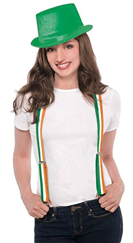 suspenders irish flag striped