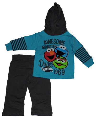 Sesame Street Baby-Boys Awesome Monster Dudes Hoodie And Pants Set
