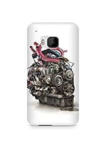 Amez designer printed 3d premium high quality back case cover for HTC One M9 (Abstract 18)