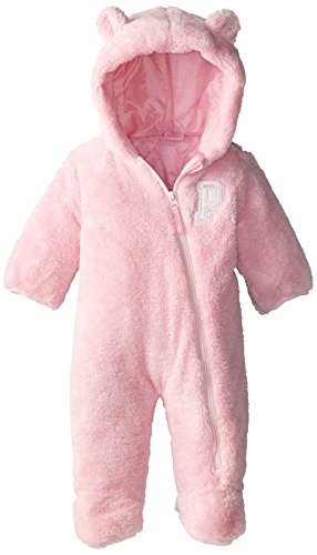 Us Polo Association Baby-Girls Newborn Bodysuit Bunting Suit With Baby Fur Shell, Baby Pink, 3-6 Months front-1069339