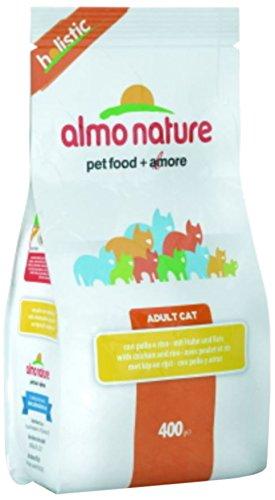 Croquettes Almo Nature Holistic pour adulte au poulet et riz Sachet 400 g