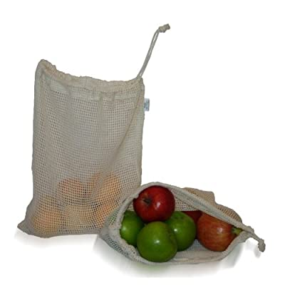 Natural Cotton Mesh Produce Bags from Simple Ecology