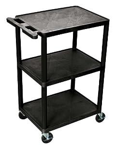 offex rolling 3 shelf structural foam molded. Black Bedroom Furniture Sets. Home Design Ideas