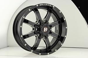 Ballistic 955 Anvil 20×9.0 Gloss Black & Milled Wheel 6x135mm 6×139.7mm (5×5.5) Bolt Pattern / -12mm Offset / 100.4mm Hub Bore