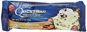 Quest Nutrition Protein Bars, Vanilla Almond Crunch, 2.12 oz bars Pack of 12