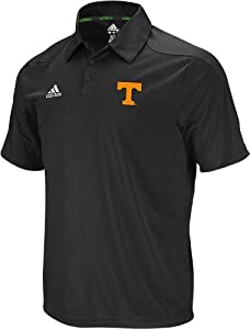 Tennessee Volunteers Adidas 2011 Sideline Adizero Black Performance Polo Shirt by adidas
