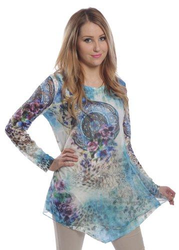 Innocent Lifestyle -  Maglietta a maniche lunghe  - Donna blu Large