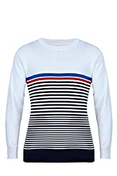 UV&W Full Sleeve Round Neck Men's Indigo Sweater