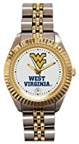 West Virginia University Mountaineers Ladies Executive Stainless Steel Sports Watch
