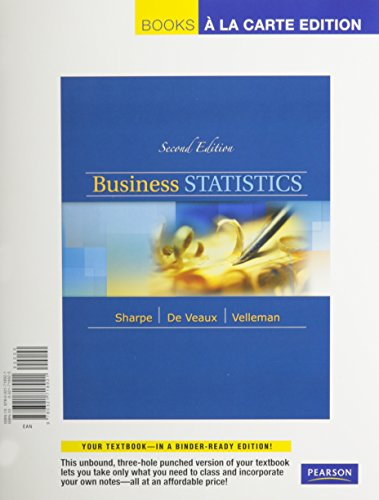 Business Statistics, A La Carte with XLSTAT Access Kit (2nd Edition)
