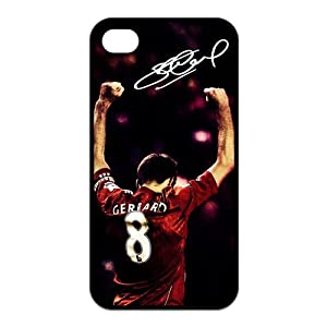 Steven Gerrard iPhone 4 4S Case, Steven Gerrard - Liverpool FC iPhone 4 4S Black Silicone Protective Case Cover at customstyle, sports, personalised, cool, fashion phone case from customstyle