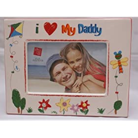 i love my daddy photo frame baby