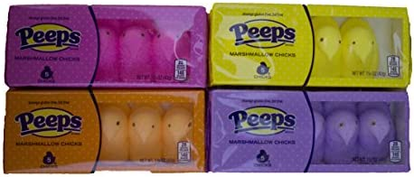 Easter Marshmallow Peeps Chicks Variety Pack 4 Count